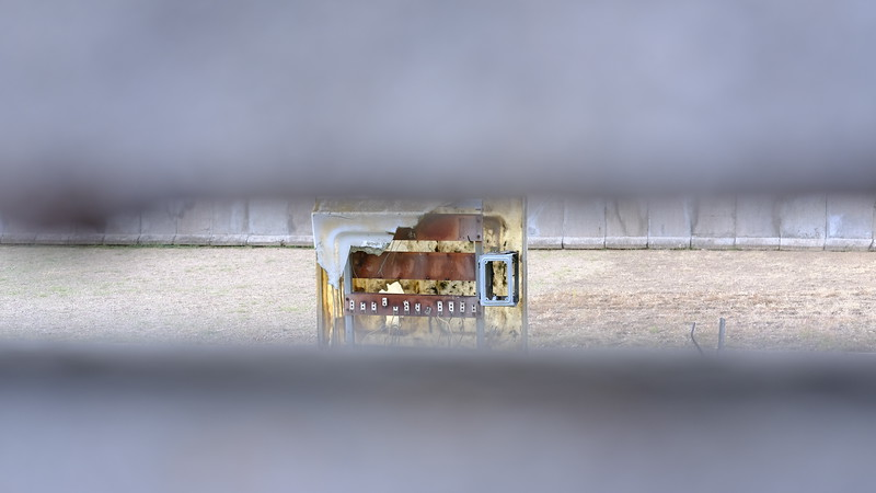"""Peering into the """"Death Strip"""" inside an old section of the Berlin Wall."""