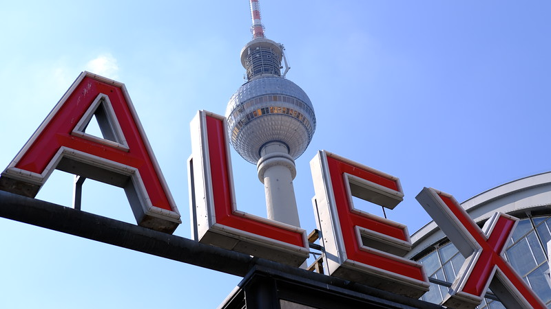 Our hotel was located near Alexanderplatz, or Alexander Plaza, and all of the trains and subways that met up there.