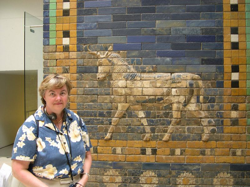 Susan by Ishtar Gate from Babylon, Pergamon Museum