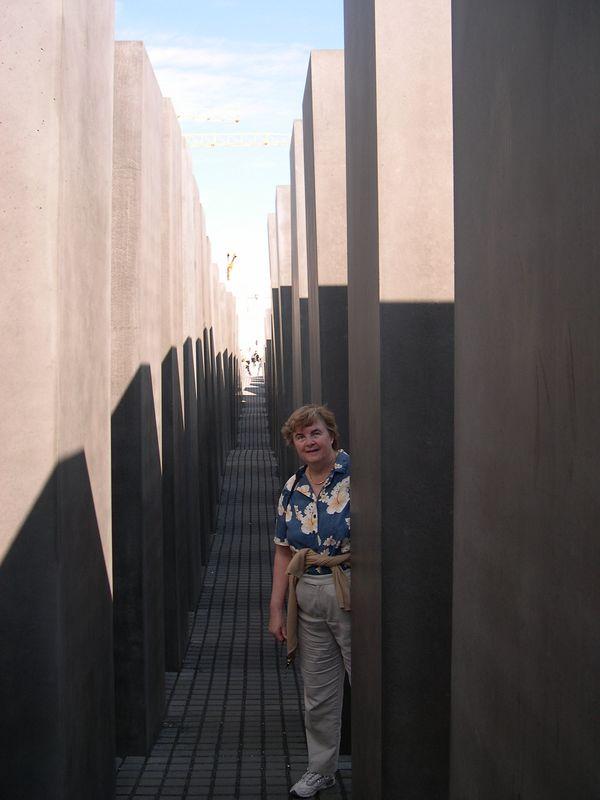 Susan in Holocaust Memorial