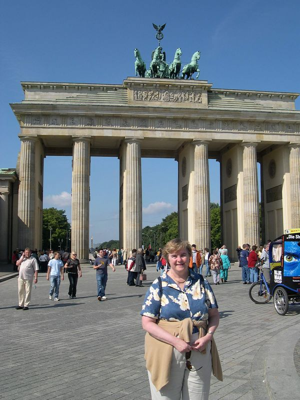 Brandenburg Gate, from inside former East Germany
