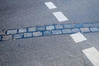 Bricks marking the Berlin Wall