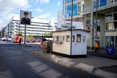 Checkpoint Charlie Looking into East Berlin