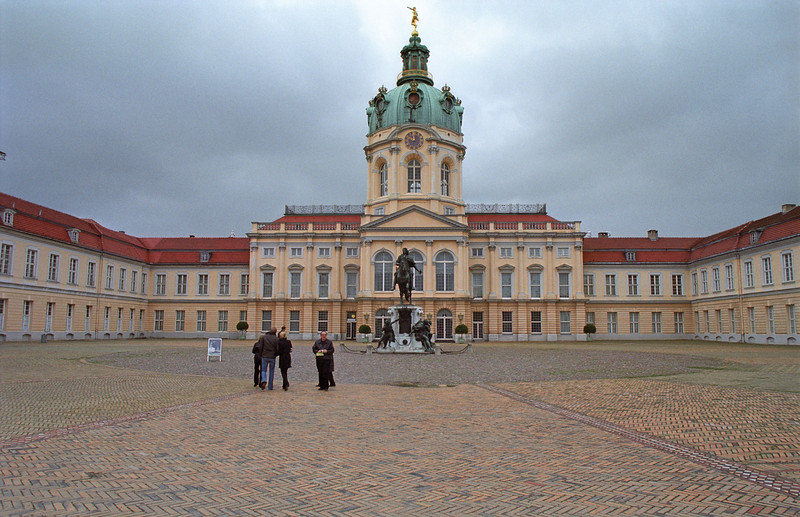 Charlottenburg Palace in a grey afternoon