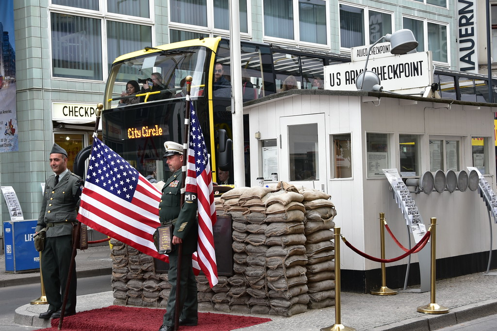 Re-enactment of former checkpoint Charlie