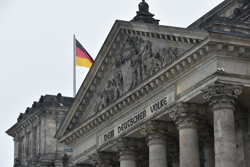 Seat of democratic Parliament of Germany