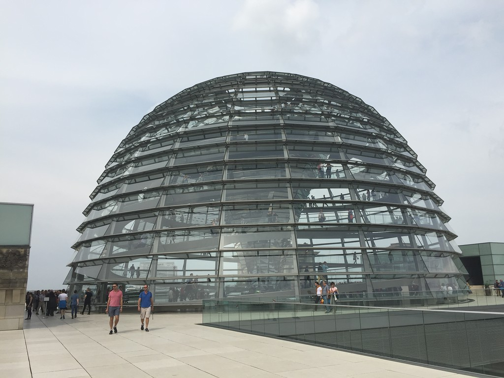 Rebuilt Glass dome stands for transparency of government