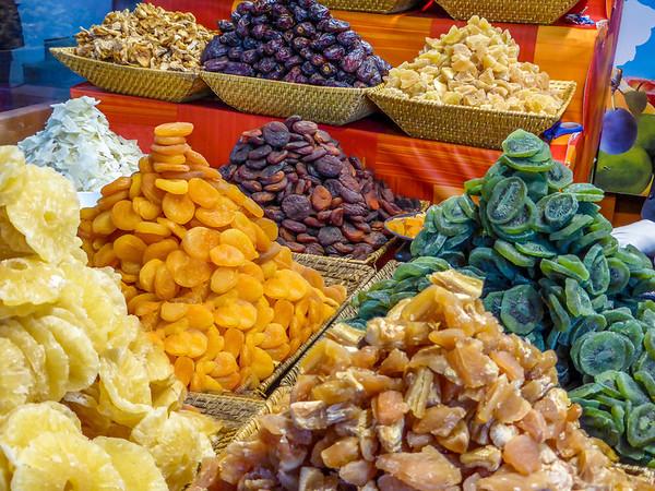 Dried Fruits on a Market