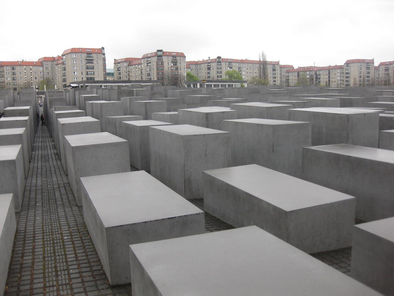 The Holocaust Memorial near the Brandenburger Tor.  Very powerful.