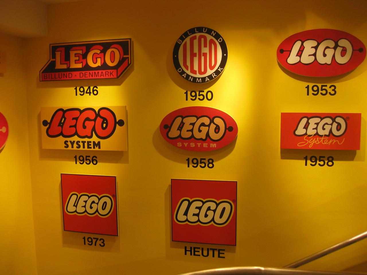 Lego logos through the years