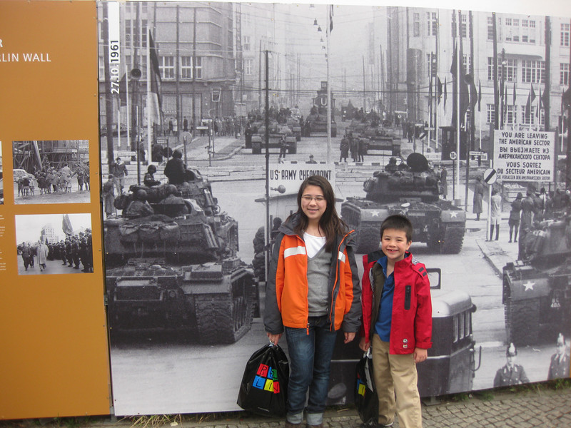 Learning the history of the second world war, and the Cold War.  It was really cool to see how interested the kids were.  Proud of them :-)