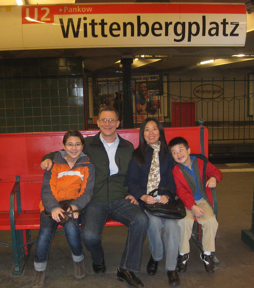Taking the subway for day of sightseeing and shopping