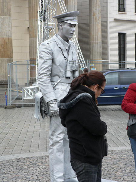 En levande staty.