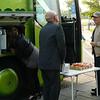 Busso-kafét dukar som vanligt upp på en rastplats i Danmark