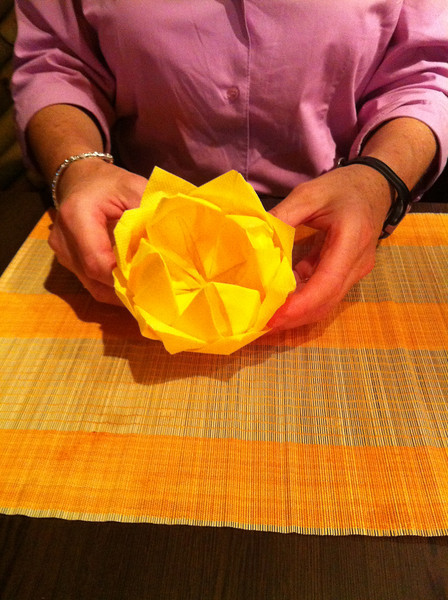 Nice napkin folding at the Thai restaurant, thought maybe Michael could copy this...
