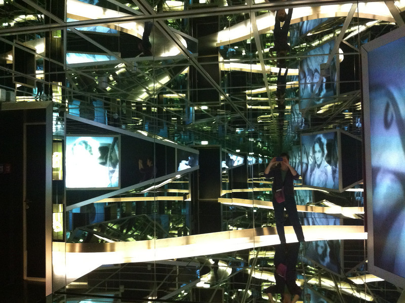 Self-portrait in the hall of mirrors at the Film Museum