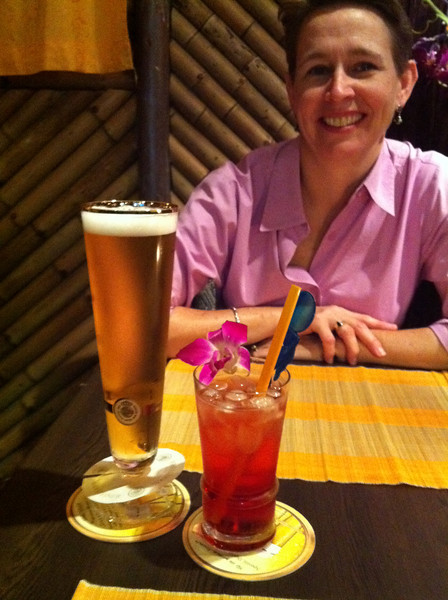 More beer!  and a Campari and soda
