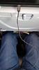 Berlin-Potsdam, Germany.  August 2017.  Legroom on my Delta flight fm PHL to JFK.