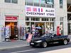 Berlin-Potsdam, Germany.  August 2017.  Berlin, Checkpoint Charlie.  One of the many souvenir shops near Checkpoint Charlie.