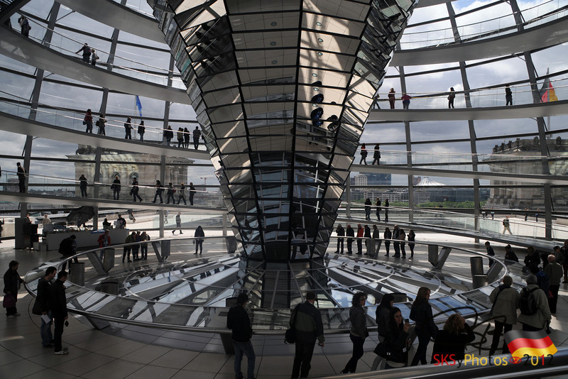 Inside the Reichstag Dome.  May 6, 2012