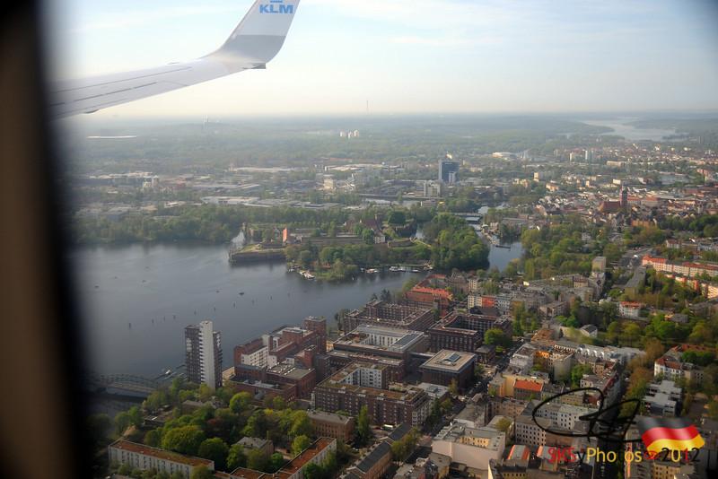 Flying in over Spandau.