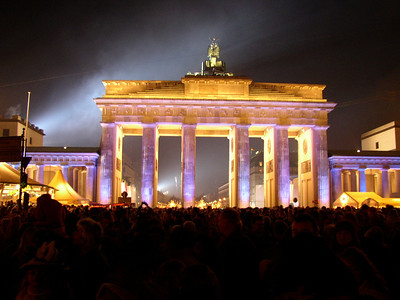Brandenburger Tor at New Years Party