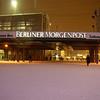 Berlin Alexanderplatz with fresh snow