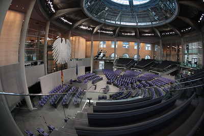 In the Reichstag building, Berlin.
