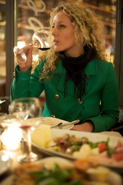 Sue in Italian restaurant  245