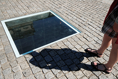Book burning memorial at the Bebelplatz
