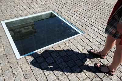 Book burning memorial at the Bebelplatz