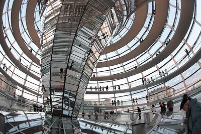 Inside the Reichstag.