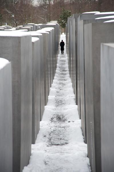Holocaust Memorial lone figure  263