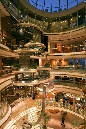 IMG_70077Centrum, Royal Caribbean's Empress of the SeasOkay, this isn't Bermuda, but it's how I got there!  This is the center atrium of the ship... Deck 5 at the bottom up to Deck 10... our staterooms were on Deck 8 where this was taken from.