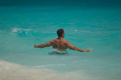 Anonymous man enjoying the Bermudian Waters