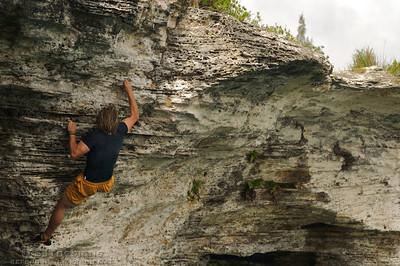 Bryan Caldwell climbs tough