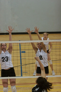 Kristin and Amanda block against Downstate VBC