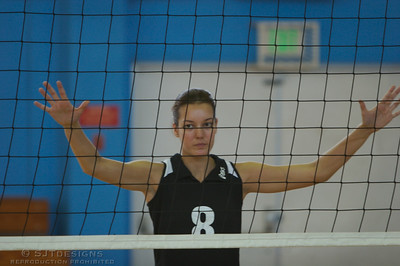 Amanda Kamm-8 of Livingston Orange Crush is ready to block