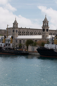 tugs docked at the the Royal navy shipyard, Bermuda