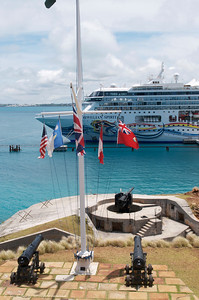 Cruise ship at Heritage wharf, Bermuda
