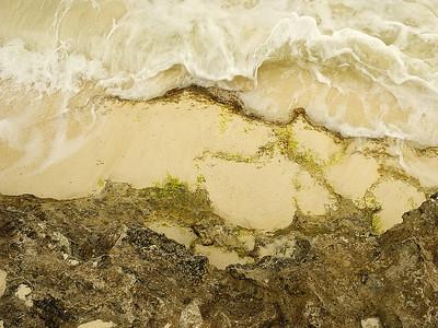 Detail de la rive de Marley Beach Bermudes / Detail of the shore of Marley Beach Bermuda.