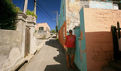 Nic @ Old Maid's Lane. The Town of St. George, Bermuda.