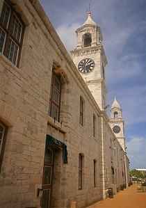 The Clock Tower @ Royal Naval Dockyard. Bermuda.