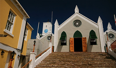 St. Peter's Church. The Town of St. George, Bermuda.