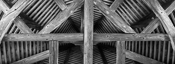 Inside one of the roof towers on the town wall