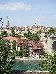 View of Bern old city from the Bear Park