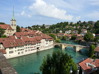 Bern - looking downstream from the Bear Park
