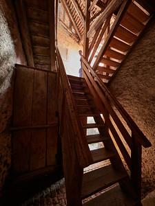 Stairs to Murten town walls
