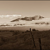 Fog shrouds Crested Butte in the morning
