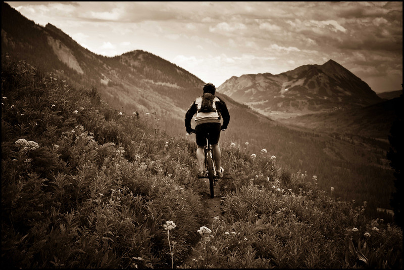 Descending the 401 trail in Crested Butte
